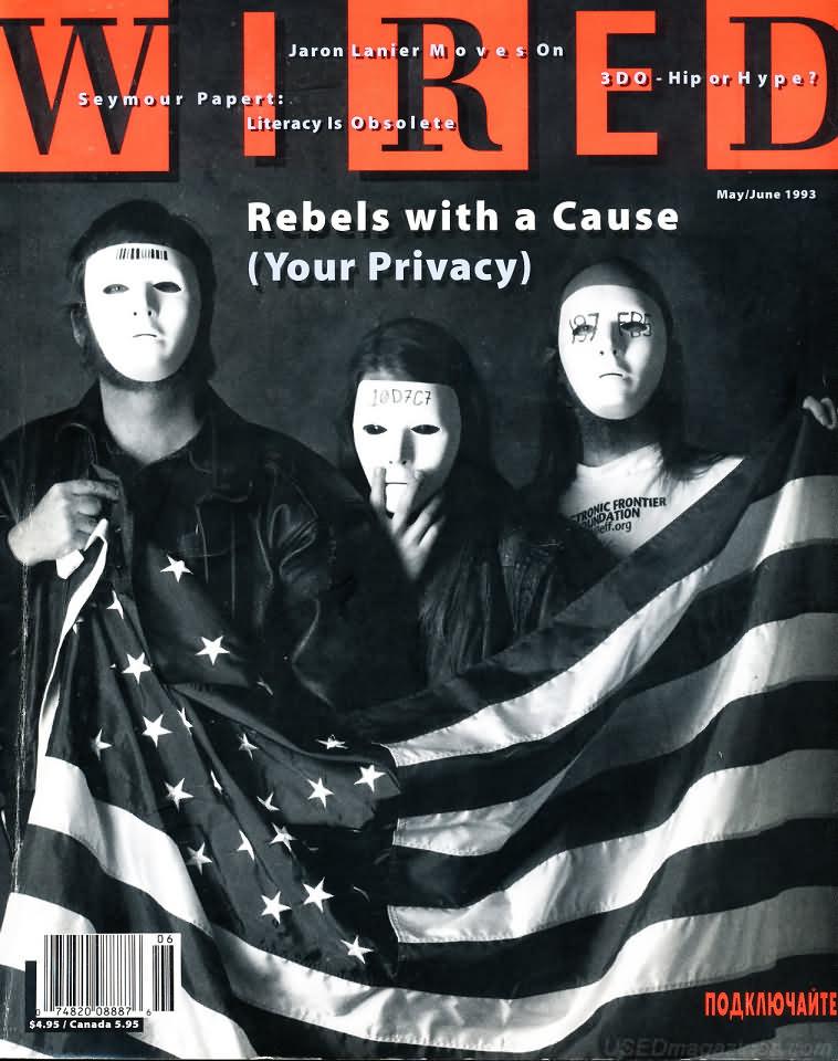 Eric Hughes, Tim May a John Gilmore na titulke časopisu Wired