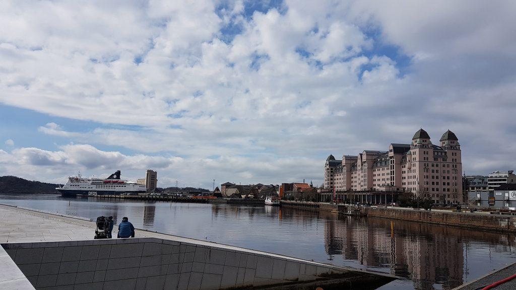 Pohľad z budovy opery, Oslo
