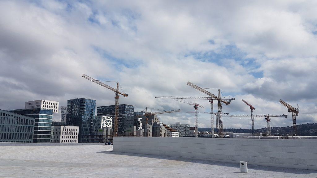 Stavebné práce vo štvrti Bjørvika, Oslo