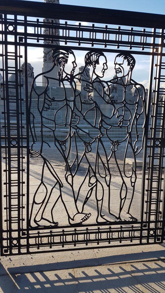 Kovaná brána, Frogner Park, Oslo