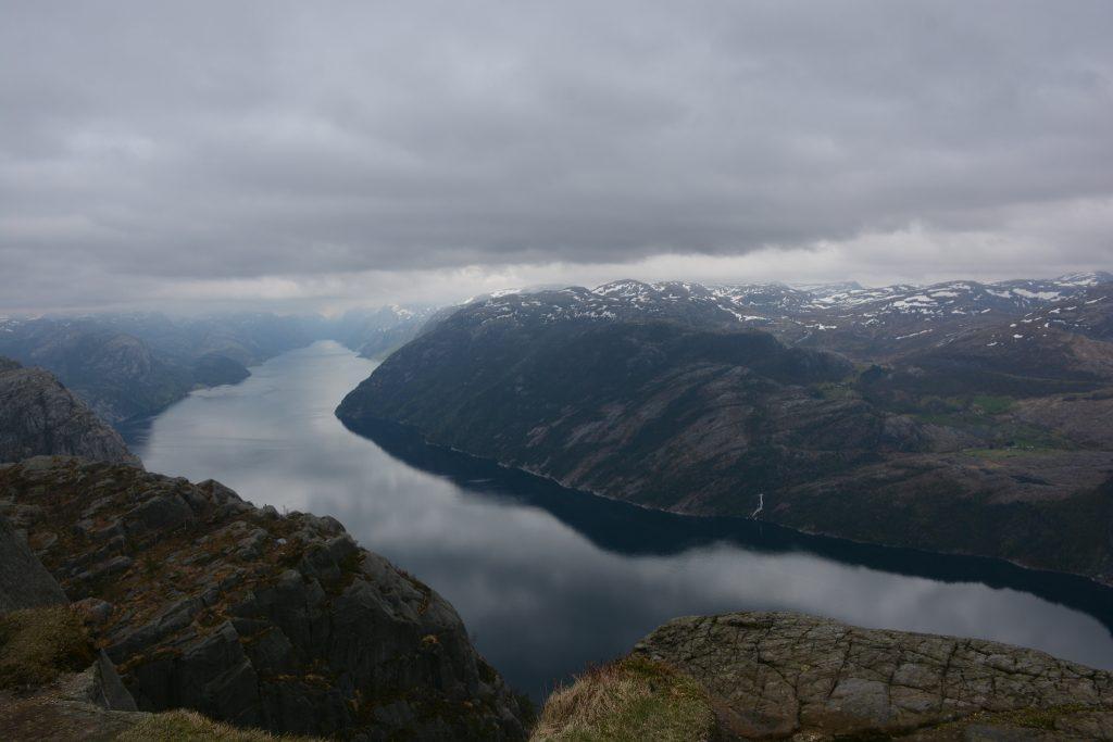 Fjord pod výhľadom Preikestolen