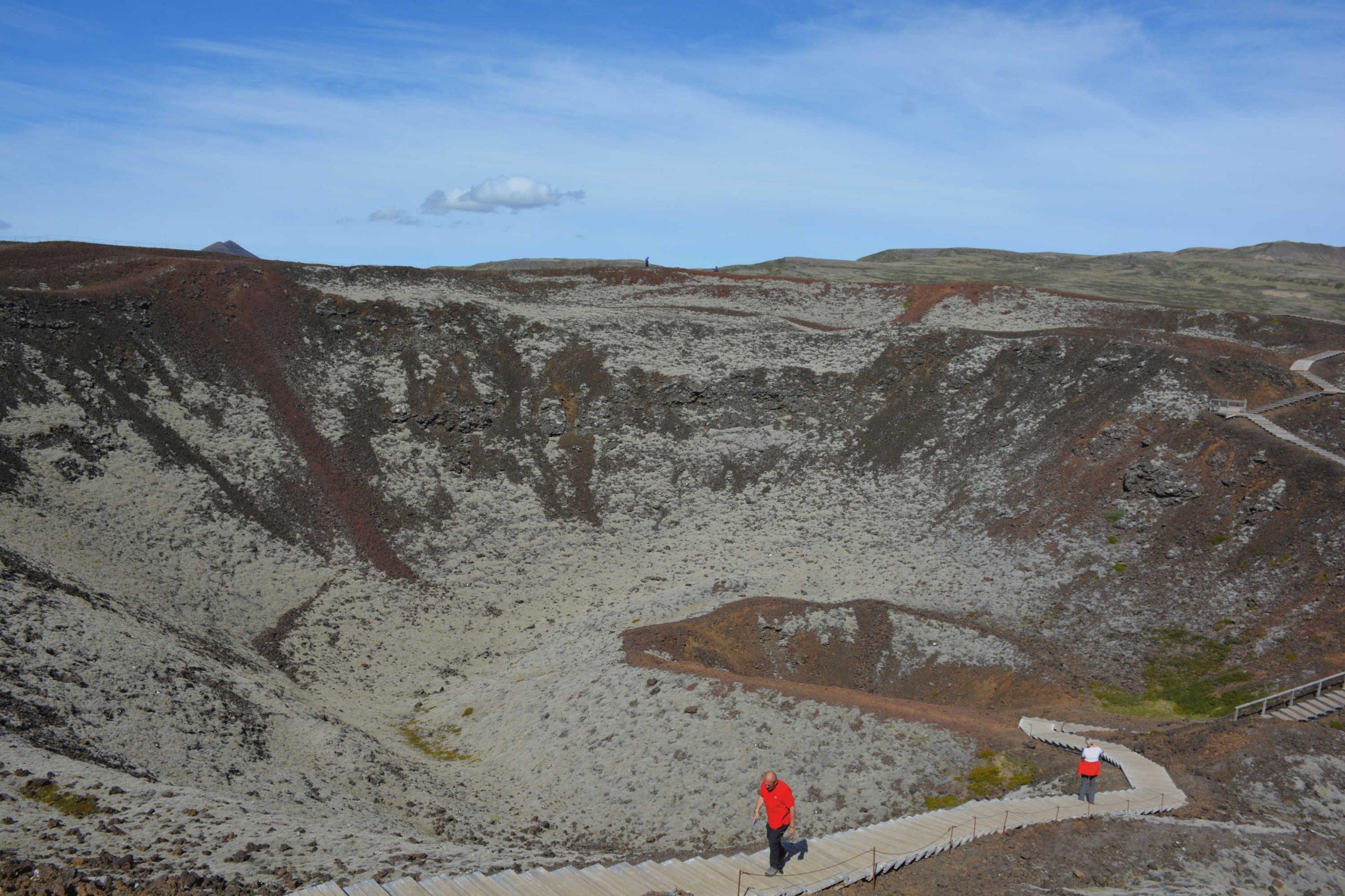 vulkán Grábrók z vnútra