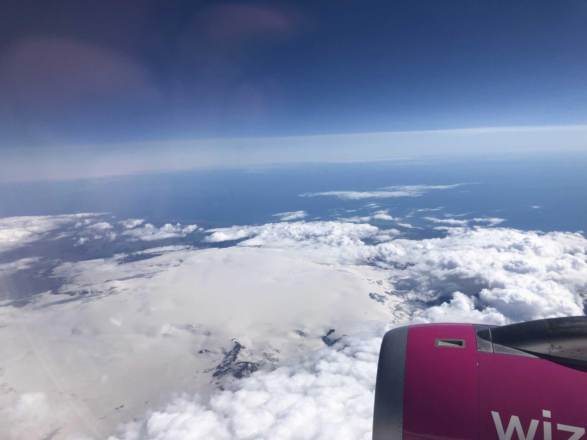 Rozlúčka s ľadovcom Vatnajökull pri odlete